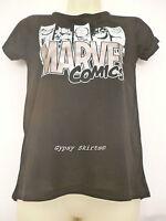NEW PRIMARK BLACK MARVEL COMICS WOMAN LADIES GIRLS T SHIRT TEE TOP UK 6-20