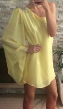 ⭐️ Womens LILY Brand NWOT Size 10 Yellow One Shoulder Dress ⭐️