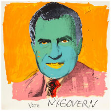 "Vote McGovern by Andy Warhol 40"" x 40""cm Quality Canvas Art Print"