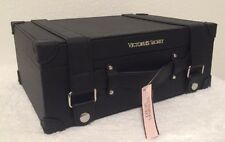 Victoria's Secret Mini Suitcase Hard Train Case Travel Bag Black Limited Edition