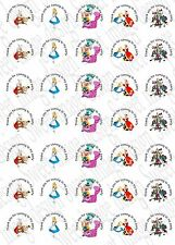 Alice In Wonder Land inspired ~ Labels ~ Stickers ~Party~ sweet cone bags