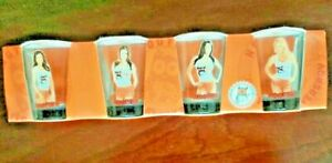 Hooters Silver Anniversary Shot Glass Set of 4 (New)