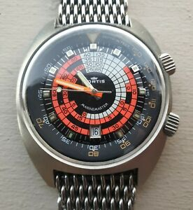 Vintage 1970's Fortis Super Compressor dive watch, Swiss made automatic