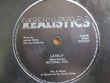 "Natural Ites ‎– Lately / Back To Loving - Original Realistic 12"" 1986 EX++"