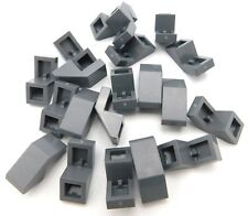Lego Lot Of 20 New Dark Bluish Grey Slope 45 1 X 2 With Cutout Pieces Slopes