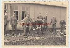 (f2401) ORIG. photo 2.wk, soldats au travail, pierre frappés, 1940er