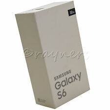 "(New, Open Box) Gold Samsung Galaxy S6 (Flat) 32GB 5.1"" 16MP 4G Android SM-G920F"