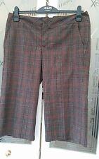 """Pantalones cortos Guess Culottes cheque 14, 34"""" De Cintura, Pantalones De Lujo De Diseñador"""