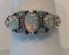 Sterling Silver Opal Ring.  Size 7