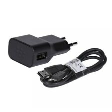 BlackBerry Netzteil 5V 0,85A inkl. USB auf Micro USB Datenkabel 85cm in schwarz