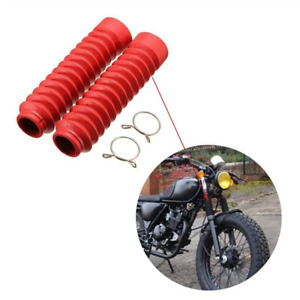 A Pair Fork Shock Absorber Dust Cover For Motorcycle Front Rubber Gaiter Boots
