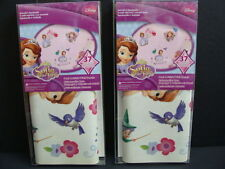 NEW Sofia the First Wall Decals Peel &  Stick 2 Packs Removable 74pcs Room Decor