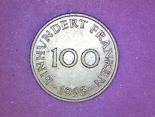 Saarland - 100 Franken- 1955 (a) - KM# 4