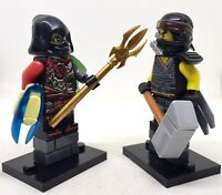 ACRONIX THE KRUX & COLE NINJA   ARCADE Minifigure snake serpentine NINJAGO