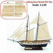 1:130 Sailing DIY Ship Assembly Model Classical Wooden Boat Decoration Wood