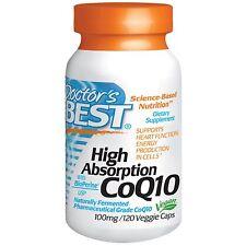 Doctor's Best, Coenzym Q10, mit BioPerine, 100 mg, 120 Vegetarische Kapseln