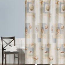 New - Saturday Knight Bayside Nautical Seashell Fabric Shower Curtain