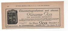 Pubblicità 1926 KINAMO ICA DREDEN CINE CAMERA advert werbung publicitè reklame