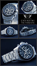 LUXUS UNISEX CHRONOGRAPH -CAVADINI UHR TACHYMETER 10 BAR THE THIRD EYE