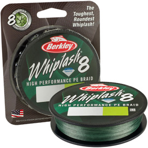 Berkley Whiplash 8 Green 300m: 100lb 47.1kg 0.28mm (270M)