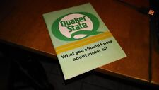 QUAKER STATE WHAT YOU SHOULD KNOW ABOUT MOTOR OIL 1990 BOOKLET