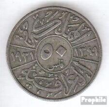 Irak 100 1931 sehr schön Silber 1931 50 Fils Faisal I.