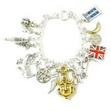 sherlock holmes and doctor who inspired bracelet tardis style Charm Bracelet