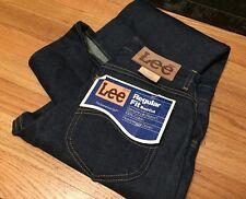 Vintage Lee Rider Talon 42 Zip Boot Cut Dark Indigo Rigid Denim Jeans. Unworn.