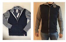 ESPRIT Herren Pullover Hoodie Collegejacke Sweatjacke College Stil Grau  Blau S b65a0c157f