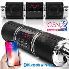 Handlebar Bluetooth Motorcycle Stereo Speaker Audio System MP3 ATV UTV 4Wheeler