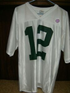 NFL Team Green Bay Packers Rodgers #12 Jersey White 100% Poly Size Men's MED  AA