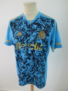 Maillot de football vintage OM Marseille N° 11 NIANG Adidas Bleu Taille M