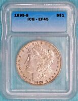 1895-S EF-45 Morgan Silver Dollar Extra Fine XF