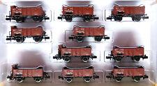 Minitrix 15048; Länderbahn-Kohlenwagen-Set, Epoche 1, unbespielt in OVP /D627