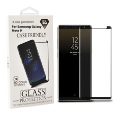 Samsung Galaxy Note 9 Case Friendly 3D Curved Tempered Glass Screen Protector Bk