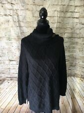Charter Club Women's Black Heavy Fall Winter Pullover Sweater Size Extra Large