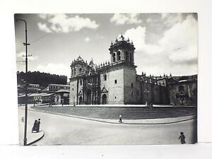 Rare Martin Chambi Peru Stamped Black & White Photograph of the Cusco Cathedral