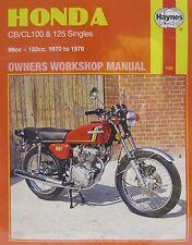 Haynes Manual 0188 - Honda CB100, CL100, SL100, CB125S, CB125J, SL125 (70 - 76)