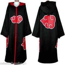 Anime Naruto HOODED CLOAK Cosplay Costume Akatsuki Taka/Hebi Hawk Uniform Sasuke