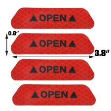 Red 4XSuper Car Door Open Sticker Reflective Tape Safety Warning Decal