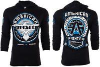 AMERICAN FIGHTER Mens Hoodie Sweat Shirt BROCKPORT Athletic BLACK Gym UFC $65