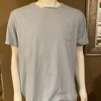 Polo Ralph Lauren Mens T-Shirt Light Blue Size Large L Tee Crewneck Classic Fit