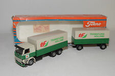 TEKNO SCANIA 142H 142 H TRUCK WITH TRAILER TRANSFLORA HOLLAND NEAR MINT BOXED