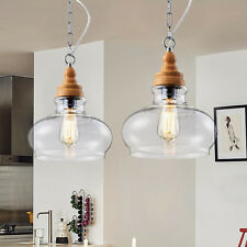Vintage Pendant Light Clear Crystal Lamp Glass Shade Modern Fixture Ceiling DIY Style B