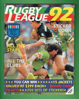 #T94.  1992 SELECT RUGBY LEAGUE STICKERS & ALBUM - NOT COMPLETE