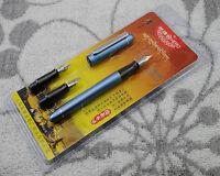 Hero 5028 Broad Nib Set Polypack Blue Fountain Pen 1.1mm 1.5mm 1.9mm
