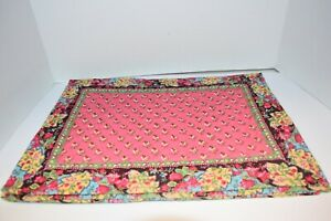 Set of 4 Vera Bradley Pink Pansy HTF Washable Cotton Placemants!