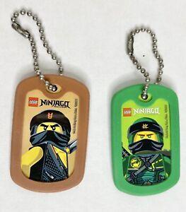 Lego Ninjago movie Dog Tag 2017 Limited Edition EUC Cole Lloyd chain toy bag tag
