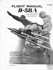 Convair B-58 Hustler archive manual 1969 Rare Jet Historic Detail cold war