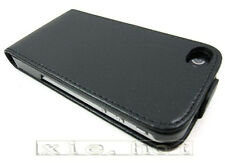 Leather Skin Case Cover for Apple iPhone 4 4G 4S 4GS black new